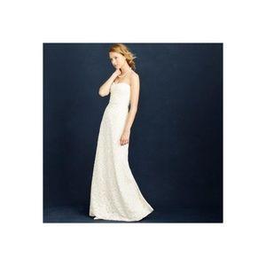 NWT J. Crew Lina Beaded Strapless Wedding Dress